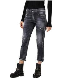 Dondup Jeans Cinque Tasche Mila - Zwart