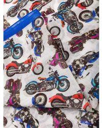 Billionaire Motorbike print scarf - Weiß