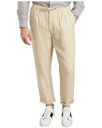 Knowledge Cotton Apparel Birch Linen Trousers - Natur