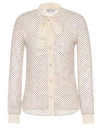 RED Valentino - Glitter Blouse - Lyst