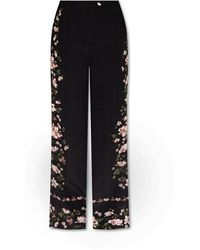 Erdem Silk trousers - Noir