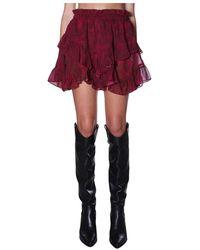 Dondup Skirt g492 - Rojo