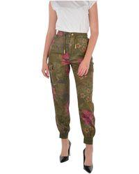 Desigual Trousers - Groen
