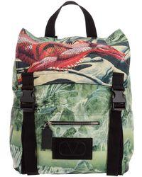 Valentino Nylon Rucksack Backpack Travel Dragon - Groen