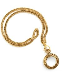 Chanel Vintage Necklace With Magnifying Glass Pendant - Bruin