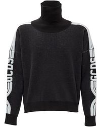 Gcds Sweater With Embroidery - Zwart