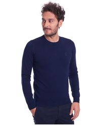 Sportmax Slim FIT Crew Neck Sweater - Blau