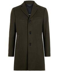 J.Lindeberg Coat Wolger Compact Melton Wool - Vert