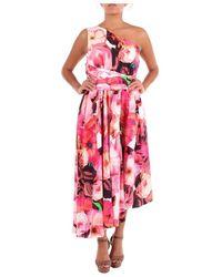 MSGM 2642mda241195355 Long Dress - Roze