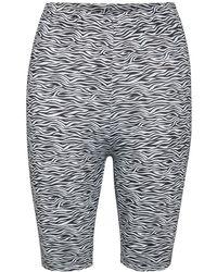Gestuz Pilo MW printed short tights - Gris