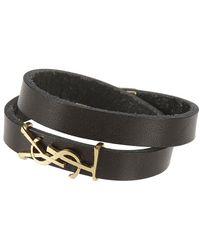 Saint Laurent Ysl Logo Wrap Bracelet - Zwart
