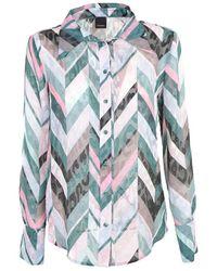 Pinko Geometric Chevron Shirt - Groen