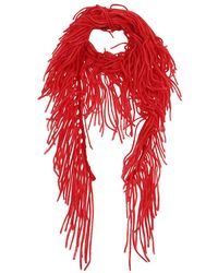 Alanui Rainbow Mountain Fringedscarf - Rood
