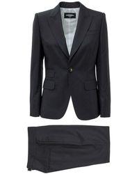 DSquared² Pinstripe Suit - Bleu