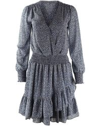 Michael Kors Ruffle Dress - Blauw