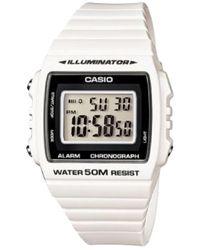 G-Shock Watch W-215h-7a - Wit