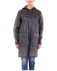 Rains Hoodedcoat Trench - Zwart