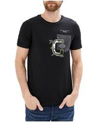 Forte Forte Tee shirt slim fit avec poche - Schwarz