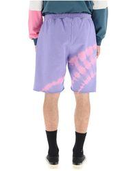 Aries - Tie-dye shorts Morado - Lyst