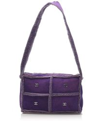 Chanel Choco Bar Patchwork Shoulder Bag - Paars