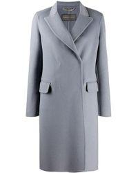 Alberta Ferretti Double-breasted Tailored Coat - Blauw