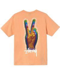 Stussy Peace Sign TEE - Orange