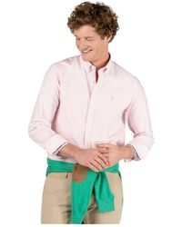 El Ganso Camisa marca de manga larga de rayas - Rosa