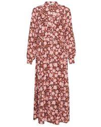 Moss Copenhagen Frix Maxi Dress Flower 16072 - Roze