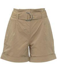 Calvin Klein Shorts With Belt - Naturel