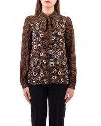 Michael Kors Shirt Imprime Georgette - Neutre