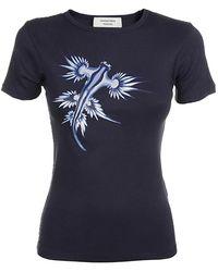 Marine Serre T-shirt - Blauw