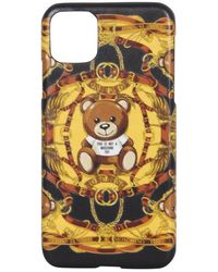 Moschino Iphone 11 Pro Max Cover - Geel