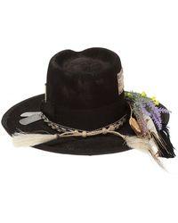 Nick Fouquet 'The 495' appliquéd hat - Noir