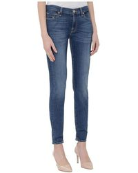 7 For All Mankind - Crop Skinny Jeans - Lyst