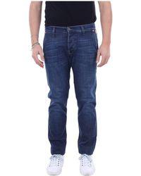 Roy Rogers P20Rru006D02100 Slim jeans - Bleu