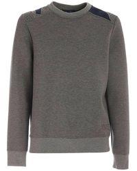 Kiton Embroidery sweatshirt - Gris