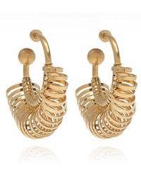 Jacquemus Les Creoles Baguier Hoop Earrings - Geel