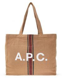A.P.C. Lou Shopper Bag - Bruin