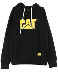 Caterpillar Hooded Sweatshirt Big Logo Hoodie - Zwart