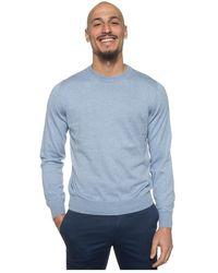 Canali Round-necked Pullover - Blauw