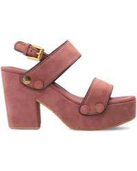 See By Chloé Galy Sandalen Met Plateauzool - Roze