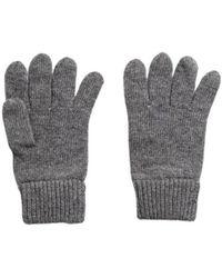 GANT Knitted Wool Gloves - Grijs