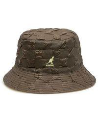 Kangol Pucker Check Bucket - Groen