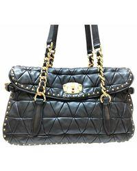 Miu Miu Vintage Shoulder Bag - Zwart