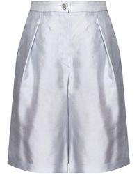Emporio Armani Gathered Shorts - Grijs