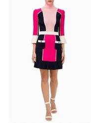 Elisabetta Franchi Vestido de punto - Pink