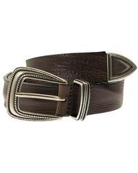 Tagliatore Bull hide belt - Marrón
