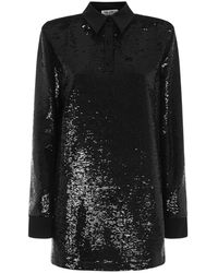 The Attico - Mini Dress With Sequins - Lyst
