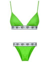 Chiara Ferragni Bikini Logomania - Groen