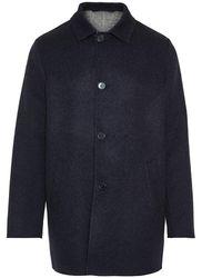 Enrico Mandelli Wool/cashmere Coat - Blauw